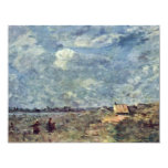 """Stormy Weather. Banks Of The Pas-De-Calais By Coro 4.25"""" X 5.5"""" Invitation Card"""