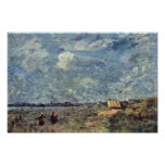 Stormy Weather. Banks Of The Pas-De-Calais By Coro Poster