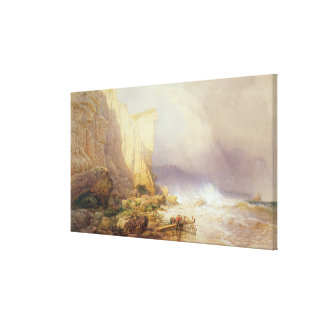 Stormy Weather, Clearing Seaton Cliffs Canvas Print