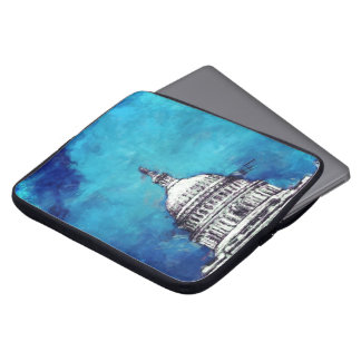 Stormy Weather Over The Capitol Laptop Sleeve