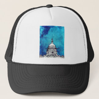 Stormy Weather Over The Capitol Trucker Hat