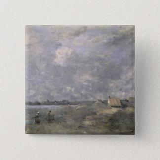 Stormy Weather, Pas de Calais, c.1870 Pinback Button