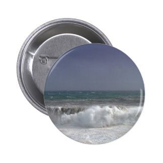 Stormy weather pinback button