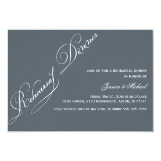 Stormy Weather Rehearsal Dinner Invitation