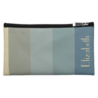 Stormy Weather Stripes Personalized Makeup Bag