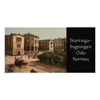 Stortingsbygningen, Oslo, Norway Custom Photo Card