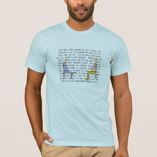 Story Art Creepy Sidewalk Crack Guy T-Shirt