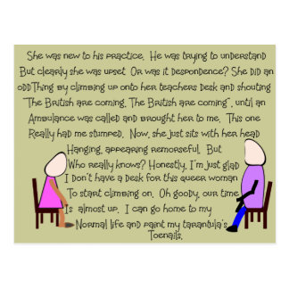 Story Art The British Are Coming --Hilarious Postcard