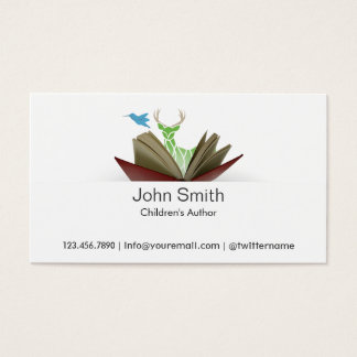 Story Book Children's Author Business Card