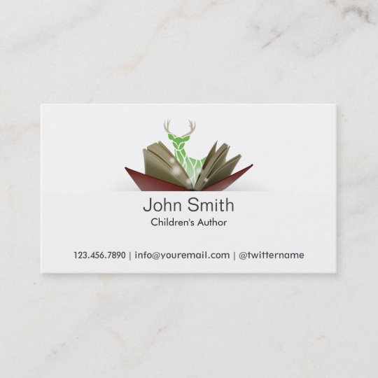 Story book childrens author business card 2 zazzle story book childrens author business card 2 colourmoves