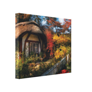 Story Book - Grannies Cottage Gallery Wrapped Canvas