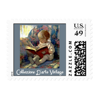 Story Book Time Postage Stamp