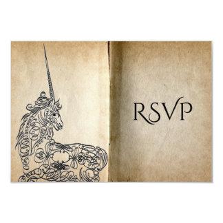 Story Book Unicorn RSVP Card