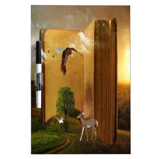 Story Book with Eagle Flying, Squirrel and Deer by Dry-Erase Board