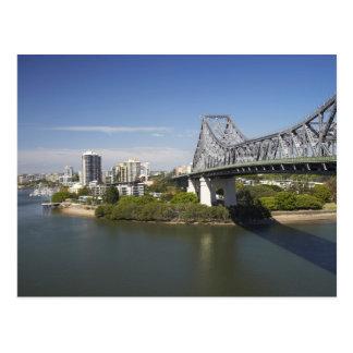 Story Bridge, Brisbane River, and Kangaroo Postcard