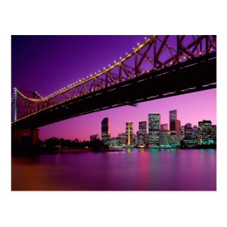 Story Bridge Over The Brisbane River - Australia Postcard