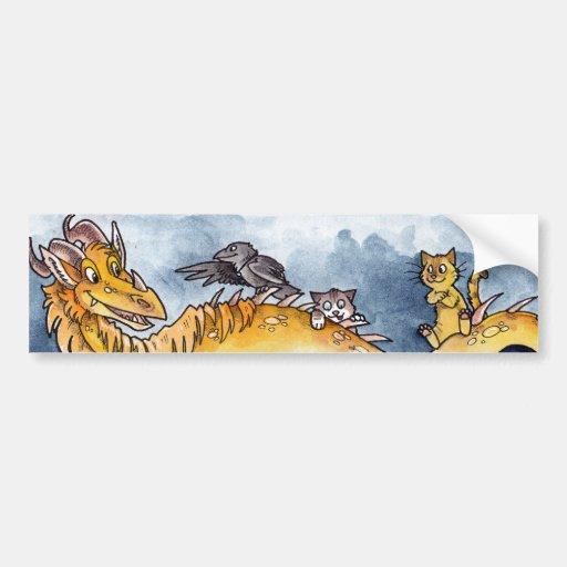 Story Dragon Car Bumper Sticker