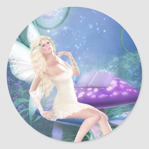 Story Fairy Classic Round Sticker