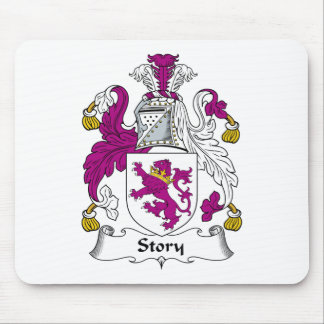 Story Family Crest Mouse Pad