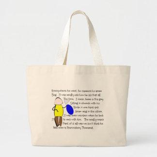 "Story Folk Art- ""He Carried His Ambu Bag"" RT Large Tote Bag"