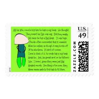 "Story Folks ""He Had a Big Head"" Story Art Postage Stamps"
