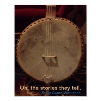 Story Gourd Poster- Rooster Bass Banjo Poster