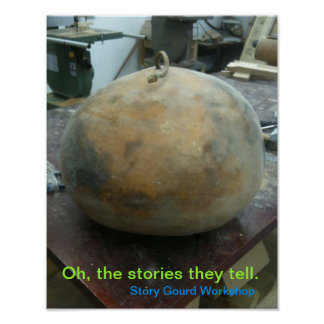 Story Gourd Poster- Whole Gourd Poster