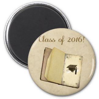 Story of Graduation, Graduation Cap and Diploma 2 Inch Round Magnet