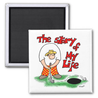 Story of My Life 2 Inch Square Magnet