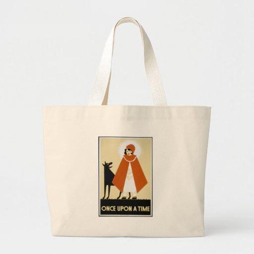 Story Telling - Red Riding Hood Jumbo Tote Bag