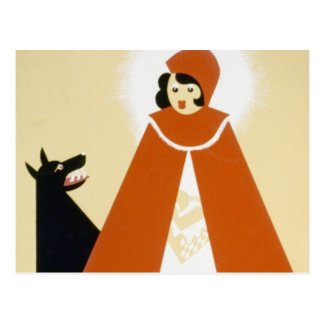 Story Telling - Red Riding Hood Postcard