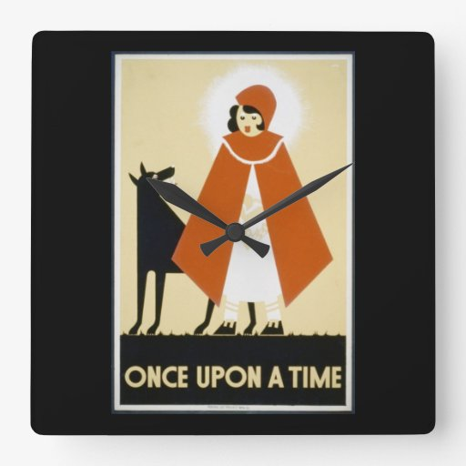Story Telling - Red Riding Hood Square Wall Clock