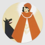 Story Telling - Red Riding Hood Classic Round Sticker