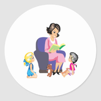 Story Time 4 Classic Round Sticker