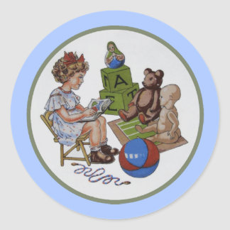 Story Time Classic Round Sticker