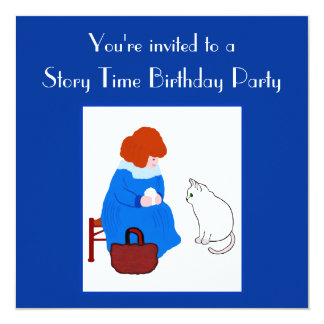 Story Time Kid's Birthday Party Card