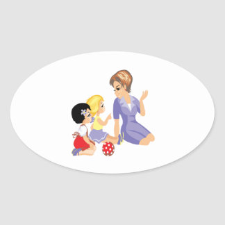 Story Time Oval Sticker