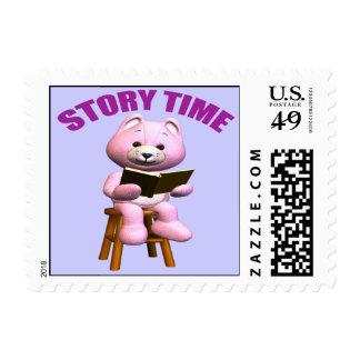 Story Time Teddy Bear Postage