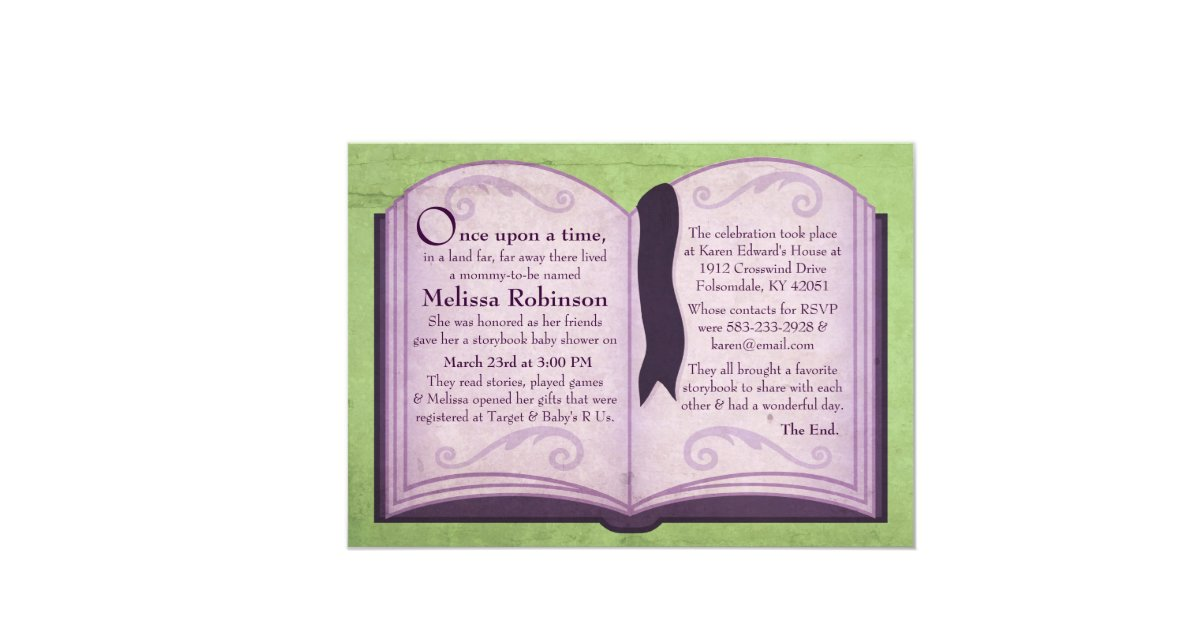 storybook baby shower invitations 5 x 7 invitation card zazzle