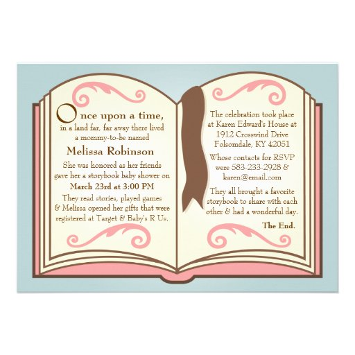 Storybook Themed Baby Shower Invitations for your inspiration to make invitation template look beautiful