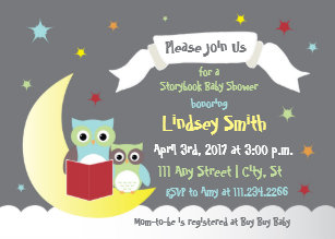 Storybook invitations zazzle storybook baby shower invite with owls filmwisefo