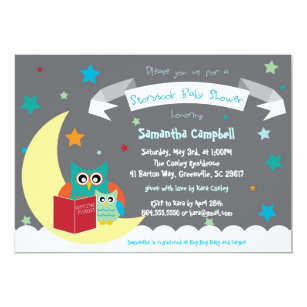 Storybook Book Baby Shower Invitation