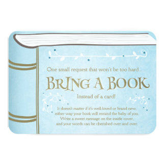 Storybook Bring a book Vintage Boy Blue Card