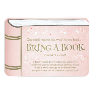 Storybook Bring a book Vintage Pink and Gold Card