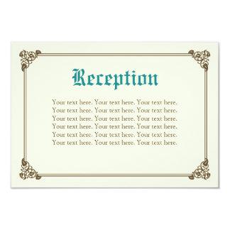 Storybook Fairytale Wedding Insert Card - Teal