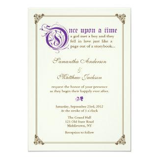 Storybook Fairytale Wedding Invitation - Purple