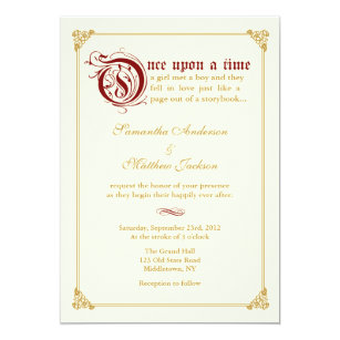 Fairytale Wedding Invitations Announcements Zazzle