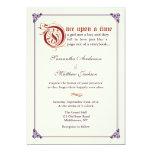 Storybook Fairytale Wedding Invitation -Red/Purple