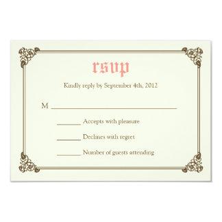 Storybook Fairytale Wedding RSVP Card - Pink