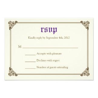 Storybook Fairytale Wedding RSVP Card - Purple Custom Announcement